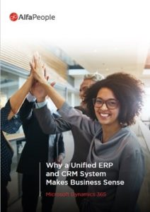 Why a unified ERP and CRM system makes retail business sense Whitepaper's Cover